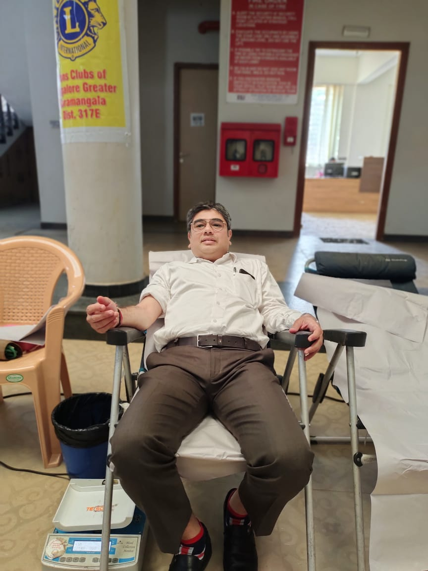 blood donation camp mvm group of institutions